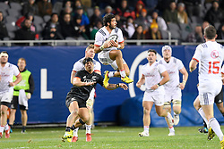 November 3, 2018 - Chicago, IL, U.S. - CHICAGO, IL - NOVEMBER 03: Ryan Matyas (11) of USA catches the ball in the air in action during the Rugby Weekend match between the New Zealand Maori All Blacks and the USA Eagles on November 3, 2018 at Soldier Field, in Chicago, Illinois.  (Photo by Robin Alam/Icon Sportswire) (Credit Image: © Robin Alam/Icon SMI via ZUMA Press)