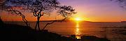 Sunset over Kahoolawe, Makena, Wailea, Maui, Hawaii<br />