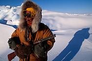 inuit Simon Idlout hunting for seal, nunavut, Canada