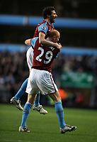 Carlos Cuellar Celebrates Scoring 2nd Goal<br /> Aston Villa 2009/10<br /> Aston Villa V Blackburn Rovers 02/01/10<br /> The FA Cup 3rd Round<br /> Photo Robin Parker Fotosports International