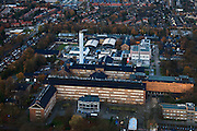Nederland, Utrecht, Bilthoven, 15-11-2010; RIVM.Het Rijksinstituut voor Volksgezondheid en Milieu in Bilthoven..National Institute for Public Health and the Environment, Bilthoven..luchtfoto (toeslag), aerial photo (additional fee required).foto/photo Siebe Swart