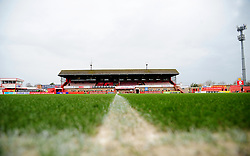 General views inside the stadium - Mandatory by-line: Nizaam Jones/JMP - 20/02/2021 - FOOTBALL - Jonny-Rocks Stadium - Cheltenham, England - Cheltenham Town v Bradford City - Sky Bet League Two