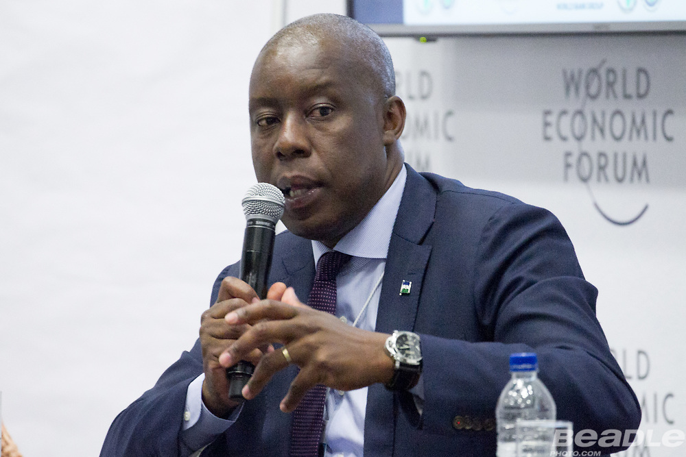 Joshua Setipa, Minister of Trade and Industry<br /> Ministry of Trade and Industry of Lesotho at the World Economic Forum on Africa 2017 in Durban, South Africa. Copyright by World Economic Forum / Greg Beadle