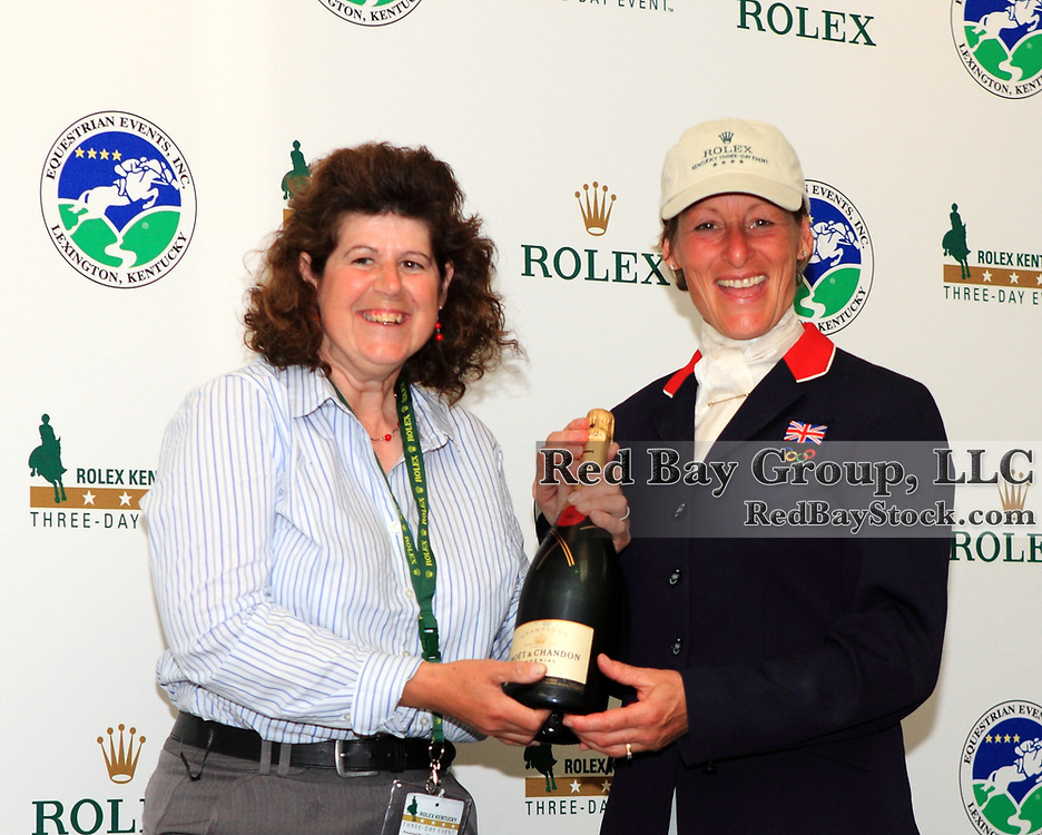 Julia Shearwood and Mary King at the 2011 Rolex Kentucky Three-Day Event in Lexington, KY.