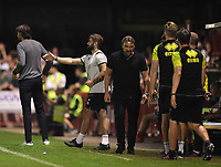 Football - 2019 / 2020 EFL Carabao (League) Cup - Second Round: Crawley Town vs. Norwich<br /> <br /> Norwich City manager Daniel Farke unhappy as a foul is not awarded, at The People's Pension Stadium (Broadfield Stadium)<br /> <br /> COLORSPORT/ASHLEY WESTERN