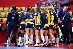 HERNING, DENMARK - DECEMBER 3, 2020: Sweden during the EHF Euro 2020 Group C match between Sweden and Czech Republic in Jyske Bank Boxen, Herning, Denmark on December 3 2020. Photo Credit: Allan Jensen/EVENTMEDIA.