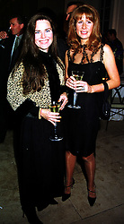 Left to right, MISS KOO STARK and the HON.AURELIA CECIL at a party in London on 7th October 1999.MXI 90