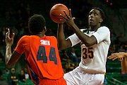 WACO, TX - JANUARY 3: Taurean Prince #35 of the Baylor Bears drives to the basket against the Savannah State Tigers on January 3, 2014 at the Ferrell Center in Waco, Texas.  (Photo by Cooper Neill) *** Local Caption *** Taurean Prince