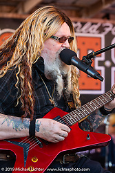 David Allan Coe playing at his afternoon free concert at the Iron Horse Saloon during Daytona Bike Week. Ormond Beach, FL. USA. Monday March 12, 2018. Photography ©2018 Michael Lichter.