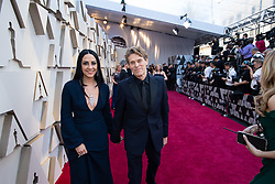 Willem Defoe (R), Oscar® nominee, and Giada Colagrande arrive on the red carpet of The 91st Oscars® at the Dolby® Theatre in Hollywood, CA on Sunday, February 24, 2019.