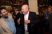 STEPHEN POLIAKOFF; JULIAN FELLOWES, Drinks to celebrate the 60th anniversary of the Times Cheltenham Literature festival. Hosted by James Harding editor of the Times and the Directors of the Cheltenham Festival. The London Library. St. James's Sq. 23 September 2009.