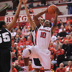 Feb 21, 2009; Piscataway, NJ, USA; Rutgers guard Epiphanny Prince (10) takes a shot during the second half of Rutgers' 55-42 victory over Providence at the Louis Brown Athletic Center.