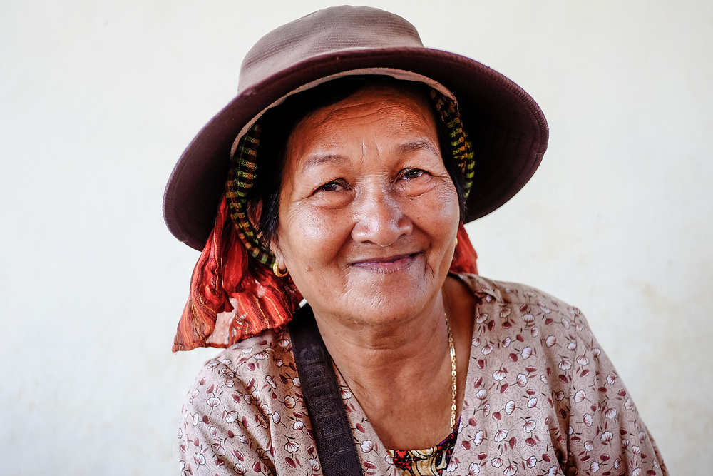 Khmer woman from Takeo, Cambodia.
