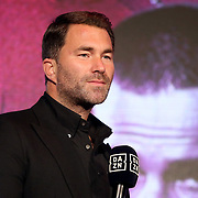 HOLLYWOOD, FL - APRIL 17:  Managing director of Matchroom Sports, Eddie Hearn, is seen during the fights at Seminole Hard Rock Hotel & Casino on April 17, 2021 in Hollywood, Florida. (Photo by Alex Menendez/Getty Images) *** Local Caption *** Eddie Hearn