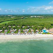Aerial view of Fairmont MayaKoba Hotel in Riviera Maya. Quintana Roo. Mexico.