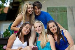 Mladina na dobrodelni nogometni tekmi SD Bilje, katere izkupicek  je namenjen Zavodu Lu ter Fundaciji Vrabcek upanja, on June 22, 2012 in Bilje pri Novi Gorici, Slovenia. (Photo by Vid Ponikvar / Sportida.com)