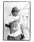 Michael Fuchs at the Hotel du Cap during the Cannes Film Festival. 1995 approx. © Copyright Photograph by Dafydd Jones 66 Stockwell Park Rd. London SW9 0DA Tel 020 7733 0108 www.dafjones.com