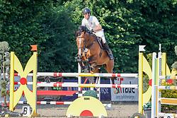 08, Youngster-Springprfg. Kl. M* 6-8j. Pferde,, Ehlersdorf, Reitanlage Jörg Naeve, 15. - 18.07.2021, Dirk Ahlmann (GER), Gwen 50,