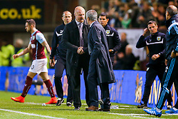 Manager Sean Dyche of Burnley congratulates Manager Jose Mourinho of Chelsea after Chelsea win 1-3 - Photo mandatory by-line: Rogan Thomson/JMP - 07966 386802 - 18/08/2014 - SPORT - FOOTBALL - Burnley, England - Turf Moor Stadium - Burnley v Chelsea - Barclays Premier League.
