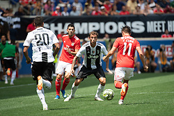 July 28, 2018 - Harrison, New Jersey, United States - Juventus midfielder CLAUDIO MARCHISIO (8) defends against SL Benfica midfielder FRANCO CERVI (11) during the International Champions Cup at Red Bull Arena in Harrison, NJ.  Juventes vs Benfica (Credit Image: © Mark Smith via ZUMA Wire)