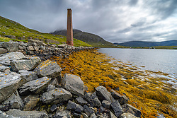 Remains of historic Bunavoneader Whaling Station on Isle of Harris, Outer Hebrides, Scotland UK