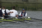 Peter Spurrier Sports  Photo<br />email pictures@rowingpics.com<br />Tel 44 (0) 7973 819 551<br />Photo Peter Spurrier<br />30/03/2002<br />2002 Varsity Boat Race<br />Oxford vs Cambridge over the Championship course - Putney to Mortlake. 14.10 Start<br />Oxford warming up around the start<br />Peter Spurrier Sports  Photo<br />email pictures@rowingpics.com<br />Tel 44 (0) 7973 819 551<br />Photo Peter Spurrier<br />30/03/2002<br />2002 Varsity Boat Race<br />Oxford vs Cambridge over the Championship course - Putney to Mortlake. 14.10 Start