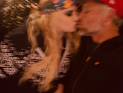 """Jessica Simpson releases a photo on Twitter with the following caption: """"""""New Year's Kiss 💋"""""""". Photo Credit: Twitter *** No USA Distribution *** For Editorial Use Only *** Not to be Published in Books or Photo Books ***  Please note: Fees charged by the agency are for the agency's services only, and do not, nor are they intended to, convey to the user any ownership of Copyright or License in the material. The agency does not claim any ownership including but not limited to Copyright or License in the attached material. By publishing this material you expressly agree to indemnify and to hold the agency and its directors, shareholders and employees harmless from any loss, claims, damages, demands, expenses (including legal fees), or any causes of action or allegation against the agency arising out of or connected in any way with publication of the material."""