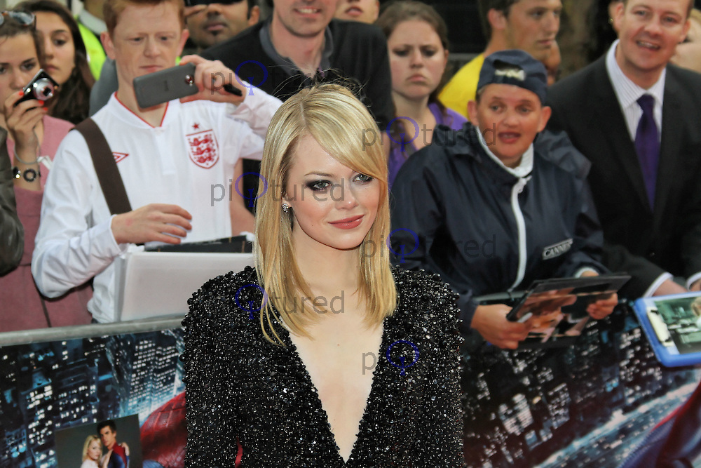 LONDON - JUNE 18: Emma Stone attends the Gala Premiere of 'The Amazing Spider-Man', Leicester Square Gardens, London, UK. June 18, 2012. (Photo by Richard Goldschmidt)
