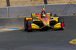 September 14, 2018 - Sonoma, California, United Stated - RYAN HUNTER-REAY (28) of the United States takes to the track to practice for the Indycar Grand Prix of Sonoma at Sonoma Raceway in Sonoma, California. (Credit Image: © Justin R. Noe Asp Inc/ASP via ZUMA Wire)