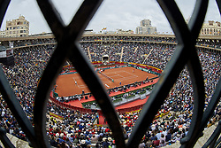 April 6, 2018 - Valencia, Valencia, Spain - General view of the match between Rafael Nadal of Spain and Philipp Kohlschreiber of Germany during day one of the Davis Cup World Group Quarter Finals match between Spain and Germany at Plaza de Toros de Valencia on April 6, 2018 in Valencia, Spain  (Credit Image: © David Aliaga/NurPhoto via ZUMA Press)