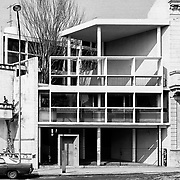 La Plata, Argentina, 1987: Currutchet house (1949) at Av. 53-320 - La Plata- Le Corbusier arch - Signed and editioned prints available at 50x40cm. Get and touch, for commercial uses or other sizes. Photographs by Alejandro Sala, (Historical archive AS)