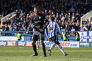 Cardiff City goalkeeper, David Marshall (1) dejected after Sheffield Wednesday striker Gary Hooper (14) scores the third goal 3-0 during the Sky Bet Championship match between Sheffield Wednesday and Cardiff City at Hillsborough, Sheffield, England on 30 April 2016. Photo by Ellie Hoad.
