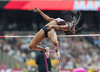 Athletics - 2017 IAAF London World Athletics Championships - Day Two (AM Session)<br /> <br /> Event: High Jump Women - Heptathlon<br /> <br /> Nafissatou Thiam (BEL) clears the bar with ease <br /> <br /> COLORSPORT/DANIEL BEARHAM
