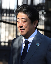 27.05.2017, Taormina, ITA, 43. G7 Gipfel in Taormina, im Bild Japans Premierminister Shinzo Abe // Japan's Prime Minister Shinzo Abe during the 43rd G7 summit in Taormina, Italy on 2017/05/27. EXPA Pictures © 2017, PhotoCredit: EXPA/ SM<br /> <br /> *****ATTENTION - OUT of GER*****