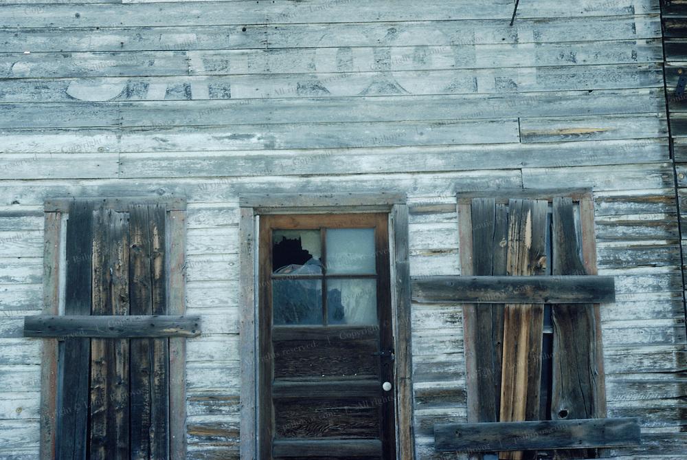 Deserted saloon.