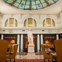 Richmond, VA - June 29, 2009 - A statue of Thomas Jefferson graces the main foyer of the Jefferson Hotel in Richmond, VA...Photo © Susana Raab 2009