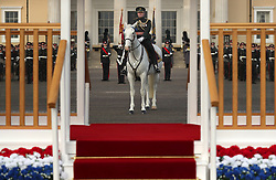 The Sovereign's Parade at Royal Military Academy Sandhurst in Camberley.
