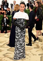 Alicia Vikander attending the Metropolitan Museum of Art Costume Institute Benefit Gala 2018 in New York, USA.
