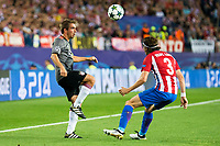 Atletico de Madrid's player Filipe Luis and Bayern Munich's player Philipp Lahm during match of UEFA Champions League at Vicente Calderon Stadium in Madrid. September 28, Spain. 2016. (ALTERPHOTOS/BorjaB.Hojas)