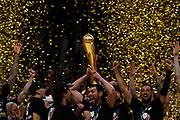 Alzata Trofeo, Coppa <br /> Festeggiamenti Vittoria Scudetto <br /> Segafredo Virtus Bologna - A X Armani Exchange Olimpia Milano<br /> Basket Serie A LBA 2020/2021 - Finale Playoff G4<br /> Bologna 11 June 2021<br /> Foto Mattia Ozbot / Ciamillo-Castoria