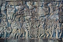 South wall panel of Bayon temple, Angkor Wat, cambodia
