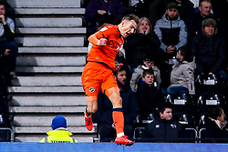 Jed Wallace of Millwall celebrates scoring a goal to make it 1-0 - Mandatory by-line: Robbie Stephenson/JMP - 20/02/2019 - FOOTBALL - Pride Park Stadium - Derby, England - Derby County v Millwall - Sky Bet Championship