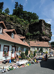 Street Market in the village of Graufthal, Alsace, France.<br /> <br /> (c) Andrew Wilson | Edinburgh Elite media