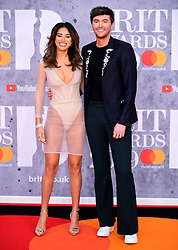 Montana Brown and Mark Ferris attending the Brit Awards 2019 at the O2 Arena, London.
