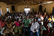 Leader of the Conventions Peoples' Party Ivor Greenstreet visit a gathering of people with disabilities at Agomeda, Ghana. Saturday, June 4, 2016. Photo: Francis Kokoroko