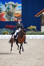 FISCHER Tanja (GER), Celebration WE<br /> Hagen - Horses and Dreams meets the Royal Kingdom of Jordan 2018<br /> Einlaufprüfung Nürnberger Burg Pokal<br /> 26 April 2018<br /> www.sportfotos-lafrentz.de/Stefan Lafrentz