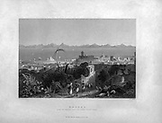 Rhodes from the heights near Sir Sidney Smith's Villa  (1840) From Syria, the Holy Land, Asia Minor, etc. : by  Carne, John, 1789-1844; Bartlett, W. H. (William Henry), 1809-1854; Purser, William Publisher: London, Fisher [1839-40]