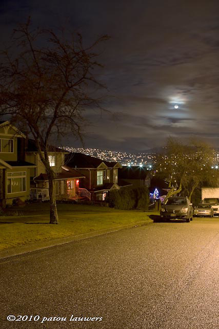 Once in a blue moon, January 2, 2010 in Vancouver