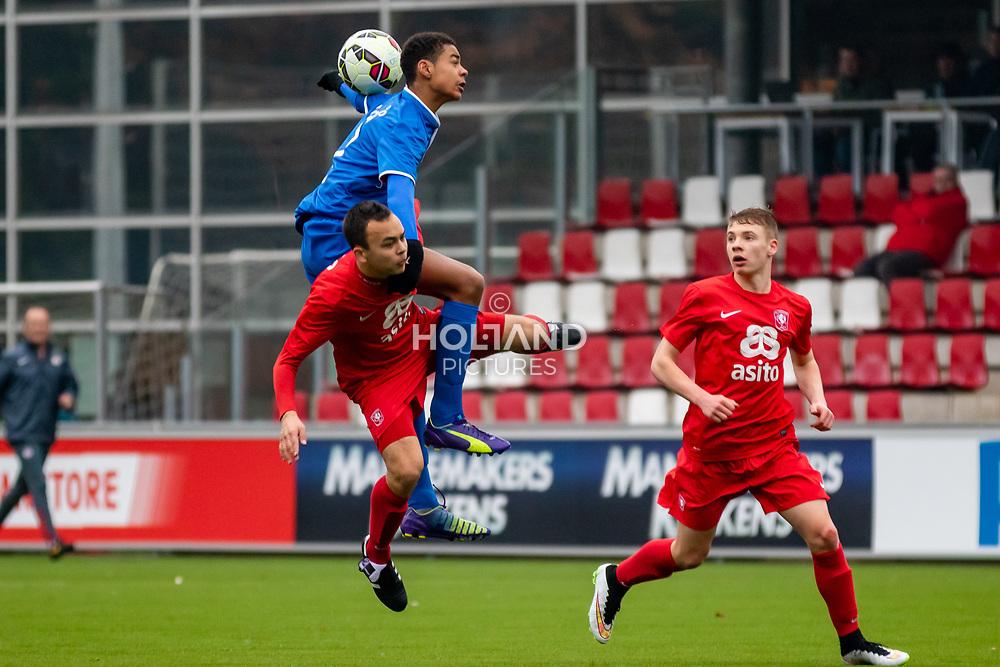 28-03-2015: Voetbal: O16 PSV v FC Twente: Eindhoven<br /> Eredivisie - Seizoen 2014-2015<br /> (L) #7 Cody Gakpo (PSV)