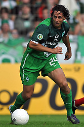 14.08.2010, Wersestadion, Ahlen, GER, Rot Weiss Ahlen vs Werder Bremen 0:4, DFB Pokal 1. Runde,  1. FBL 2010, im Bild Claudio Pizarro ( Werder #24 ). EXPA Pictures © 2010, PhotoCredit: EXPA/ nph/  Kurth+++++ ATTENTION - OUT OF GER +++++ / SPORTIDA PHOTO AGENCY